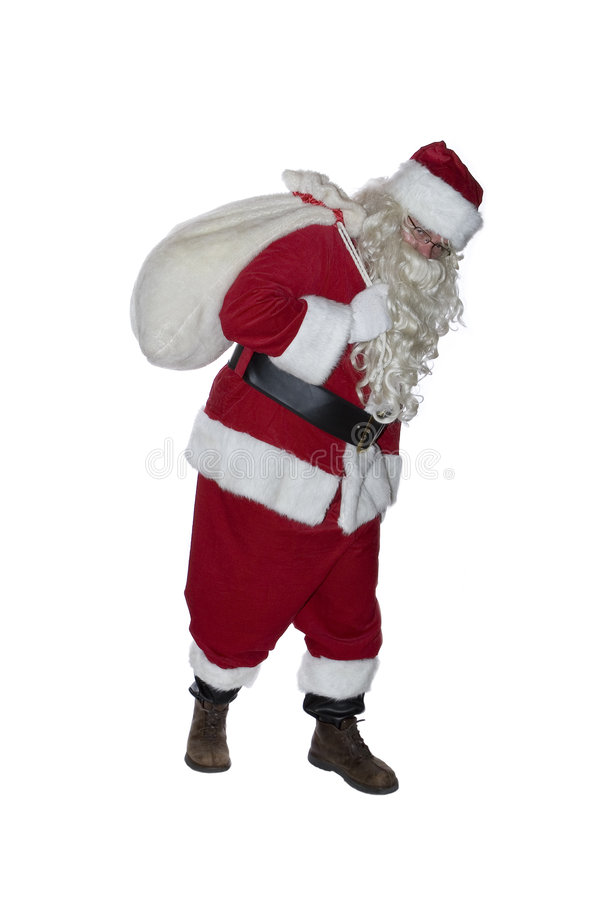 Santa Clause. A hip-hop Santa Clause isolated on a white background royalty free stock images