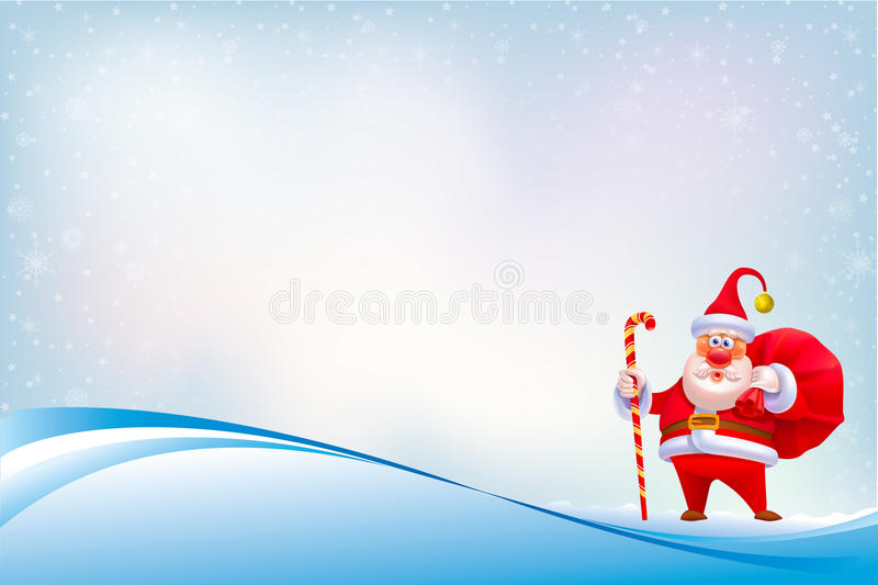 Santa Clause on Abstract Background with Seamless Pattern vector illustration