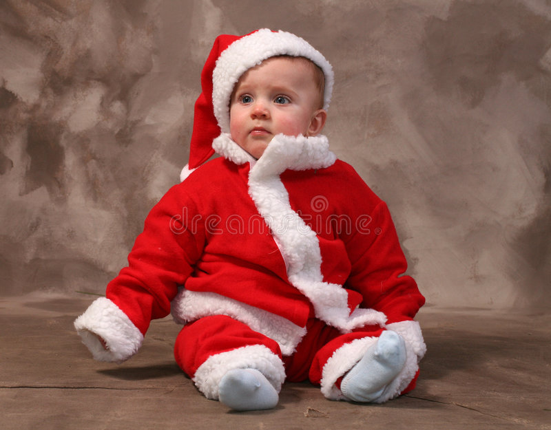 Download Santa clause baby stock photo. Image of baby, yuletide - 1542050