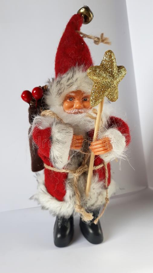 Santa clause - Christmass. Picture of toy santa clause royalty free stock photo