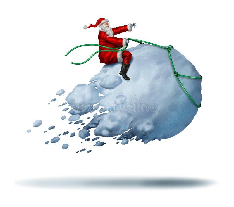 Santa Clause Snow Fun stock illustratie