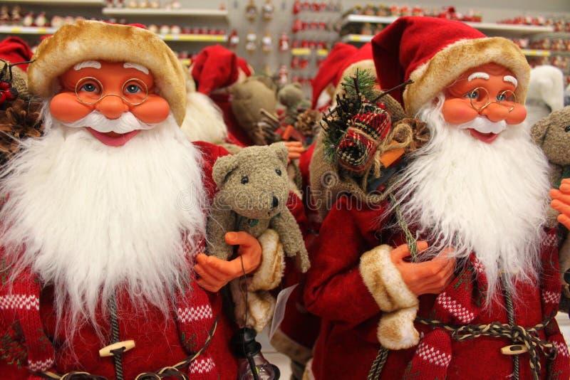 Santa Clauses fotografia de stock
