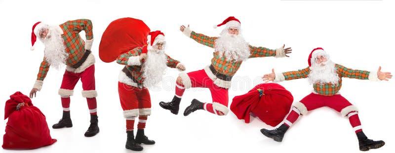 Santa Clauses imagem de stock