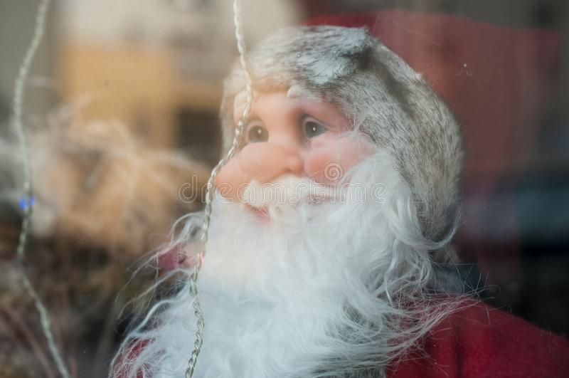 Santa clauses for christmas decoration. Portrait of santa clauses for christmas decoration stock photography
