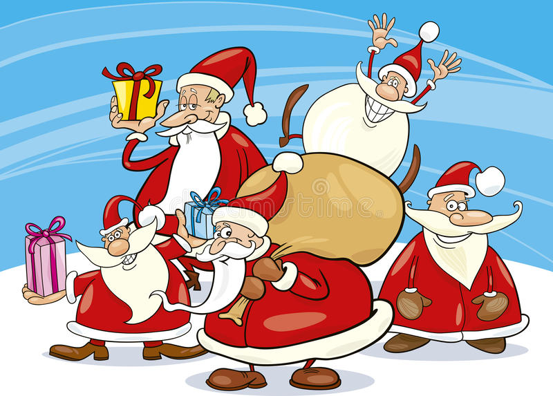 Download Santa Clauses Group Stock Images - Image: 17070714