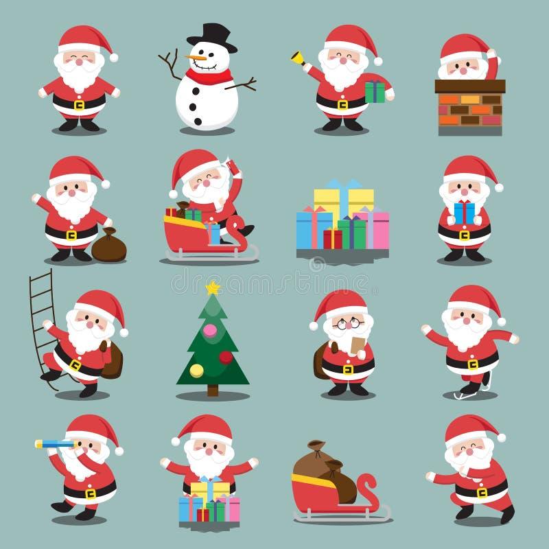 Santa Clauses a placé pour Noël illustration libre de droits