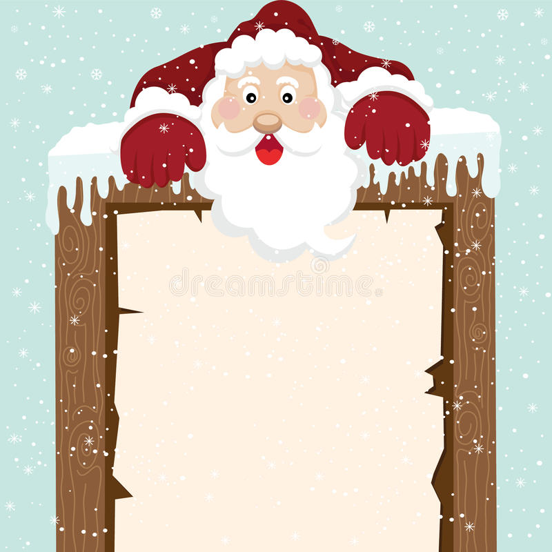 Santa Climb överst tecken stock illustrationer