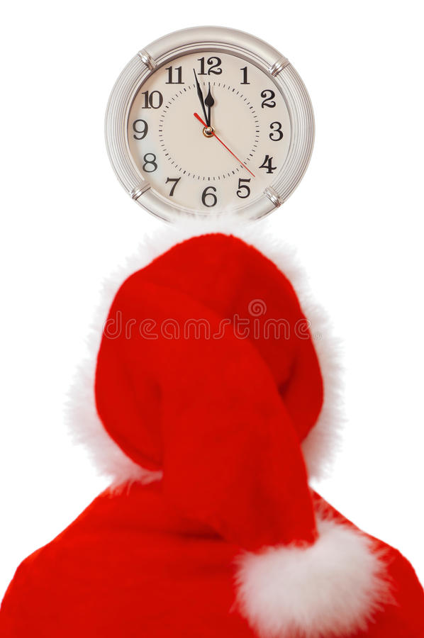 Download Santa and clock stock image. Image of copy, indoors, people - 17196757