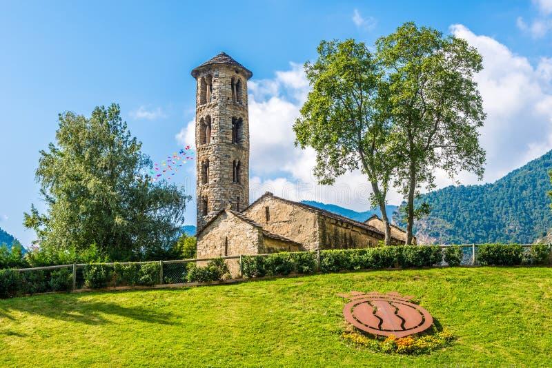 Santa Coloma kyrka i Andorra arkivfoto