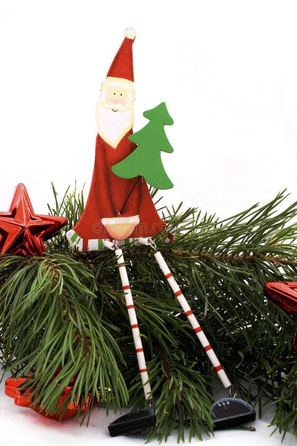 Santa com árvore fotografia de stock