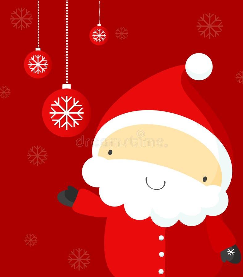 Santa com bolhas do xmas ilustração do vetor