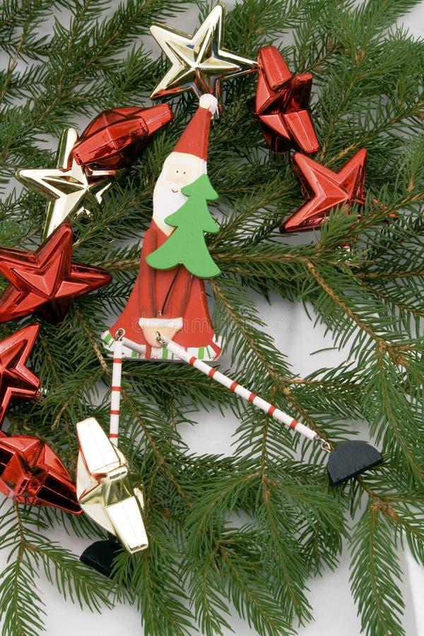 Santa com estrelas imagem de stock
