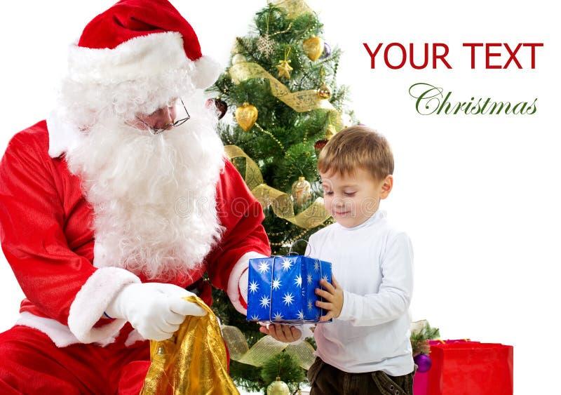 Santa com miúdo imagem de stock royalty free