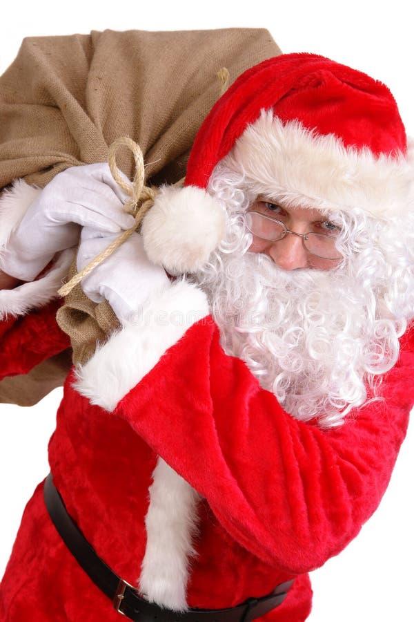Download Santa con el saco grande imagen de archivo. Imagen de rojo - 7279581