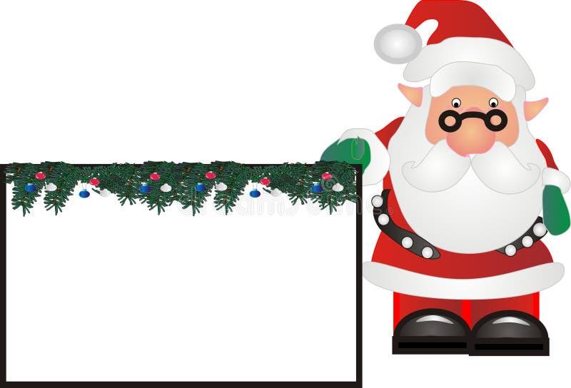 Download Santa con il contrassegno illustrazione vettoriale. Illustrazione di humbug - 7308042