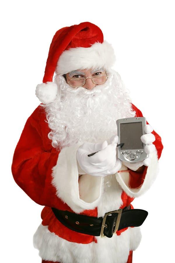 Santa con il messaggio fotografie stock