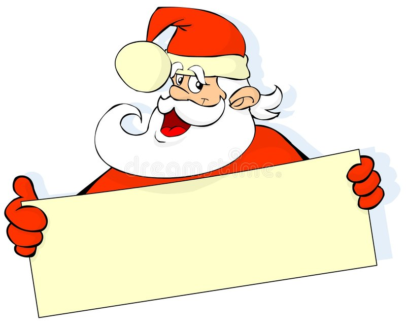 Santa con la bandera stock de ilustración