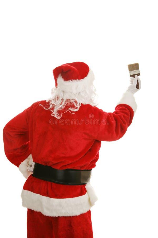 Santa con la brocha foto de archivo libre de regalías