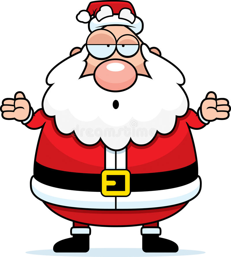 Download Santa Confused stock vector. Image of christmas, holiday - 14308929