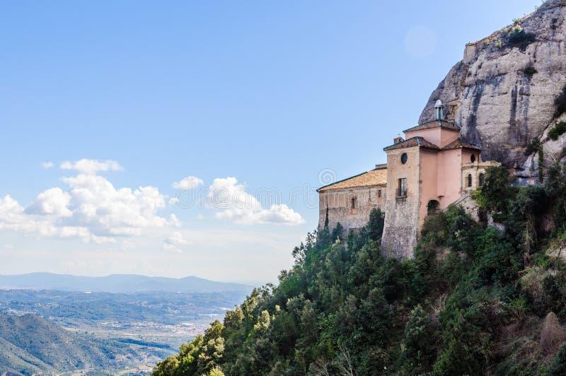 Santa Cova Chapel near Montserrat in Catalonia, Spain royalty free stock photo
