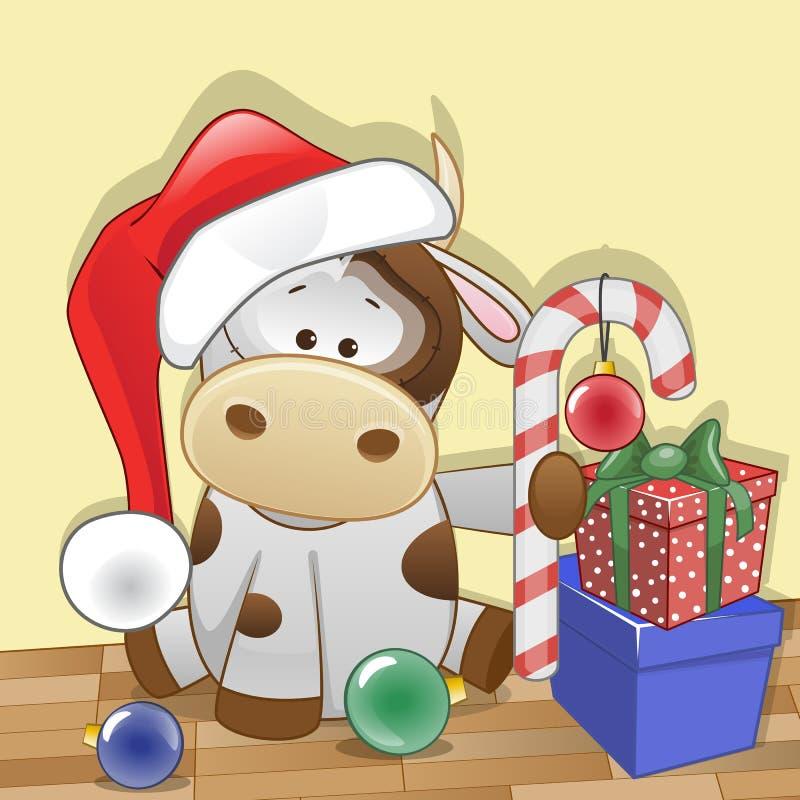 Santa Cow illustration de vecteur