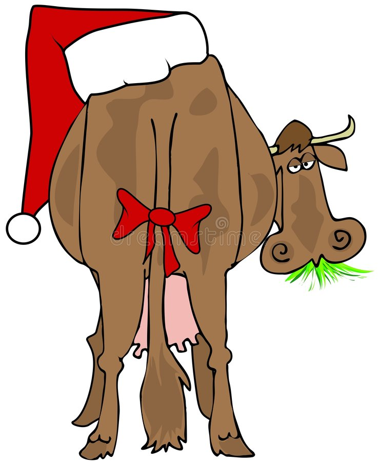 Download Santa Cow stock illustration. Illustration of bovine, tail - 7375399