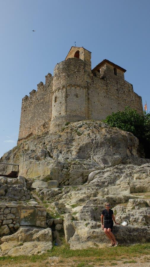 Santa Creu de Calafel-kasteel royalty-vrije stock afbeeldingen