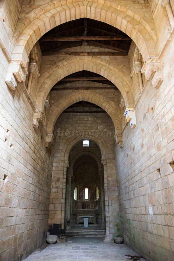 Santa Cristina de Ribas de Sil kloster i Ourense royaltyfri bild