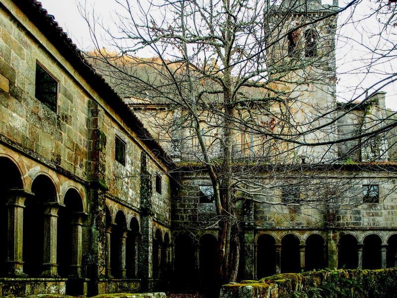 Santa Cristina de Ribas de Sil Monastery i Ourense - Spanien royaltyfri foto