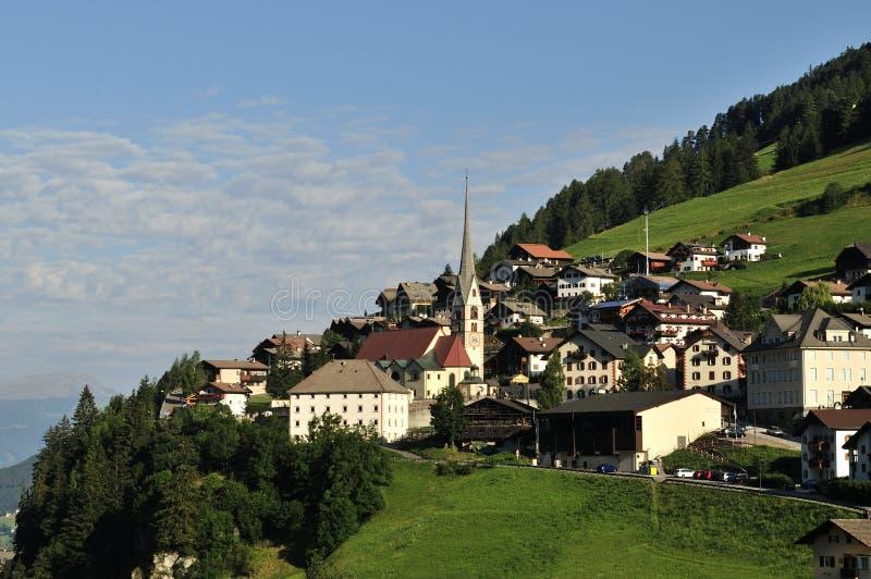 Santa Cristina di Valgardena, Trentino-alto Adige, Dolomiten, Itália fotos de stock royalty free
