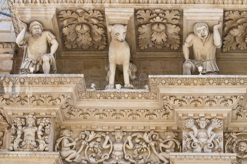 Santa Croce Basilica. Lecce. Puglia. Itália. imagem de stock royalty free