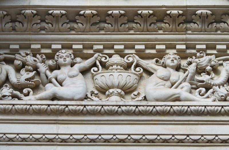 Santa Croce Basilica. Lecce. Puglia. Italië. stock foto's