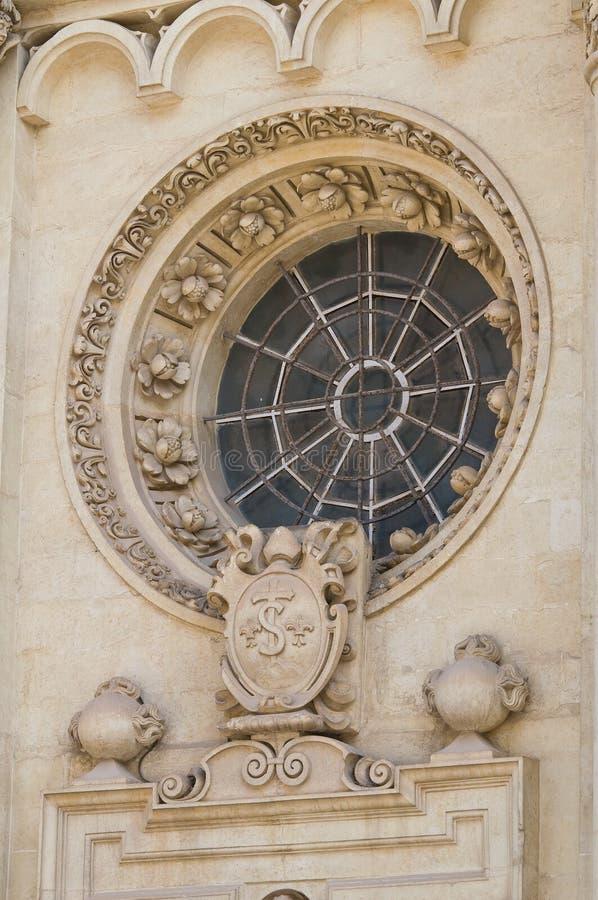 Santa Croce Basilica. Lecce. Puglia. Italië. stock fotografie