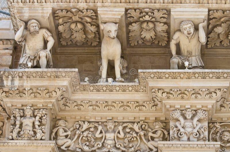 Santa Croce Basilica. Lecce. Puglia. Italië. royalty-vrije stock afbeelding