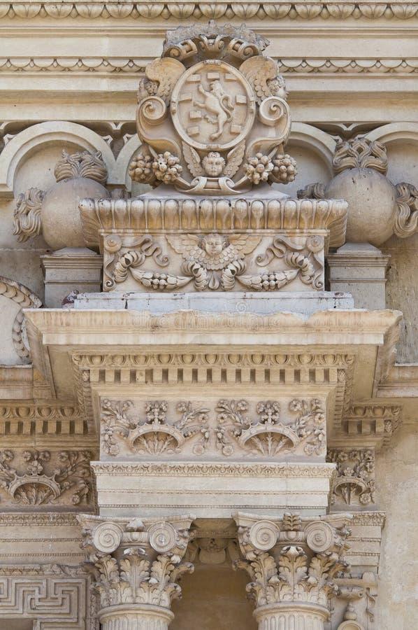 Santa Croce Basilica. Lecce. Puglia. Italië. royalty-vrije stock afbeeldingen