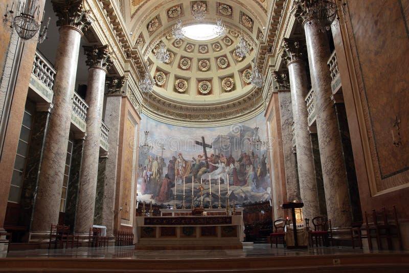 Santa Croce Cathedral à Forli, Italie image stock