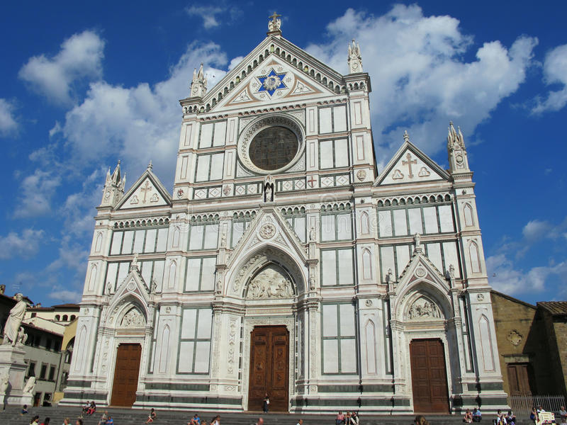 Santa Croce Cathedral in Florency, Italia immagini stock
