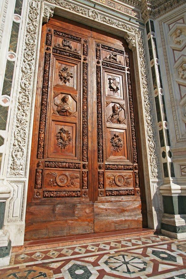 Santa croce church entrance stock photos