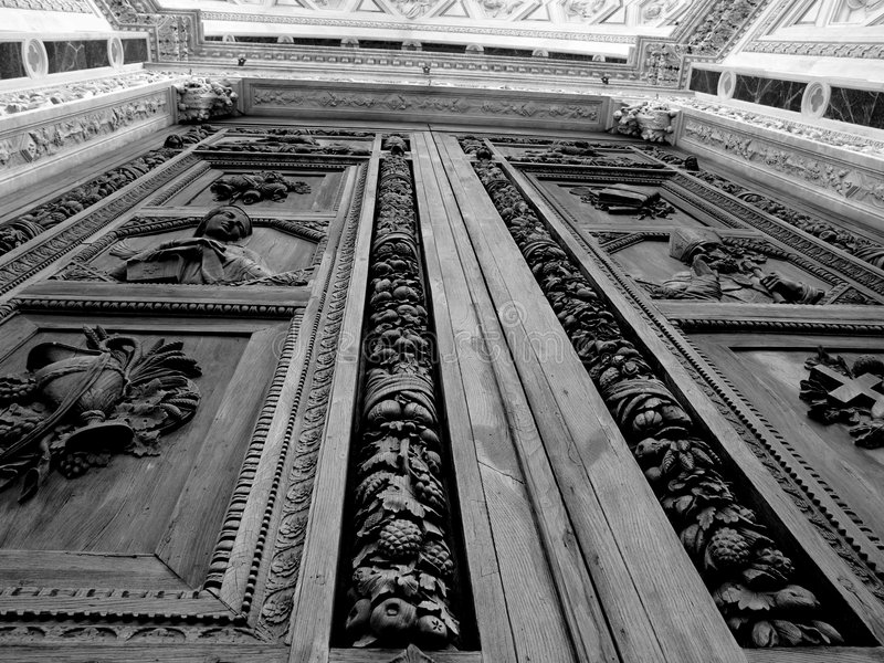 Santa croce church in florence royalty free stock photo