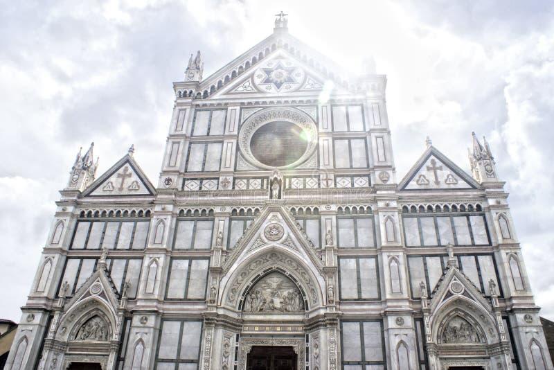 Santa Croce em Firenze, Itália imagens de stock
