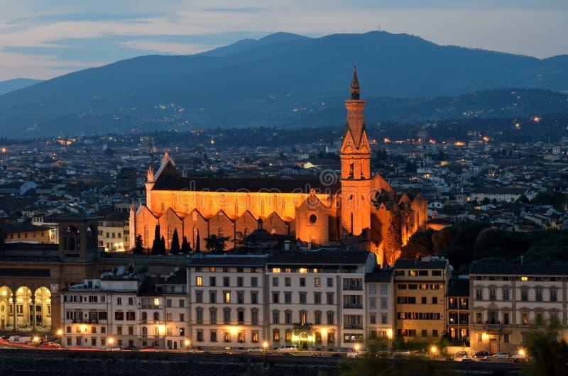 Santa Croce, Firenze, Toscana fotografie stock libere da diritti