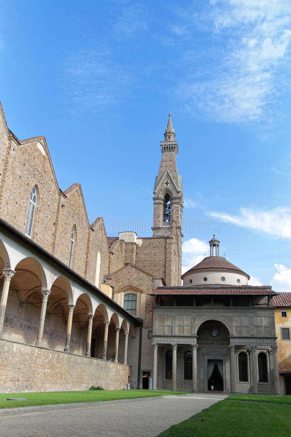 Santa Croce kloster och kapell av Pazzi arkivfoton