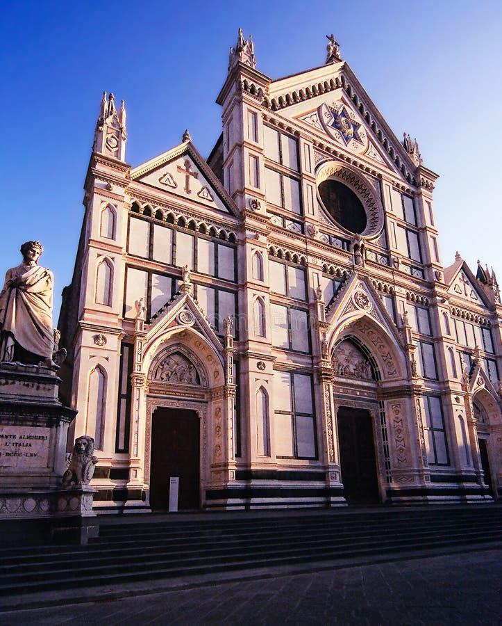 Santa Croce kyrka i Florence Italy arkivbild