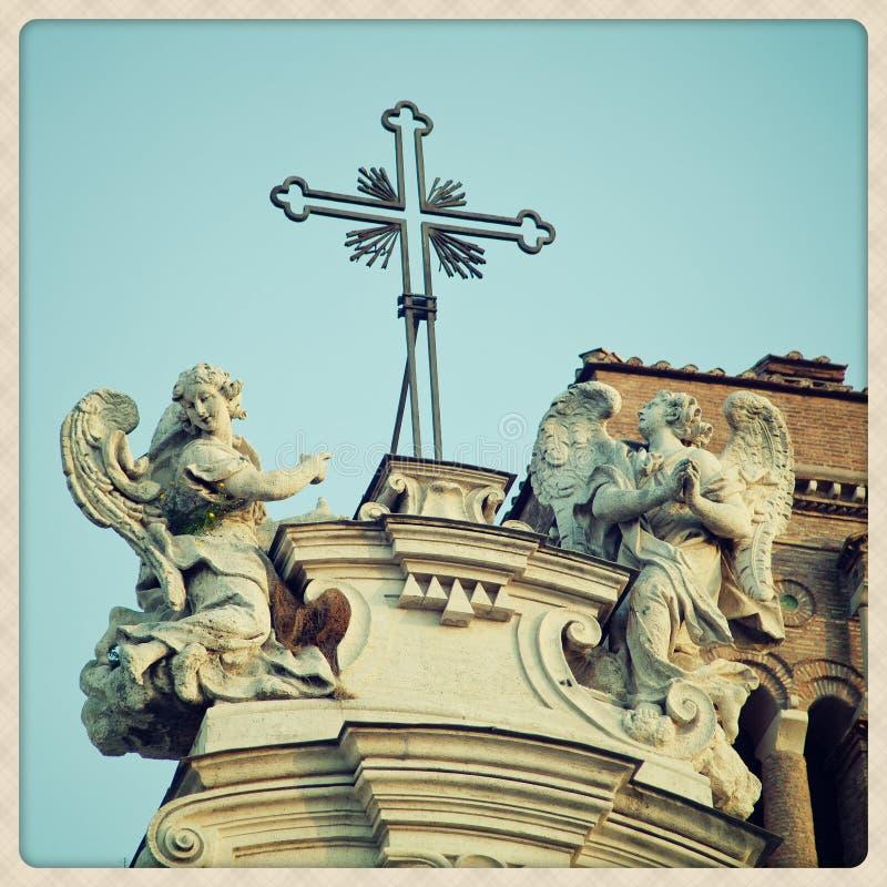 Santa Croce w Gerusalemme szczegółach zdjęcia royalty free