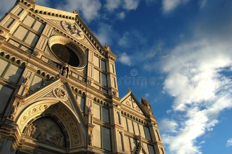 Santa- Crocekirche in Florenz stockfoto