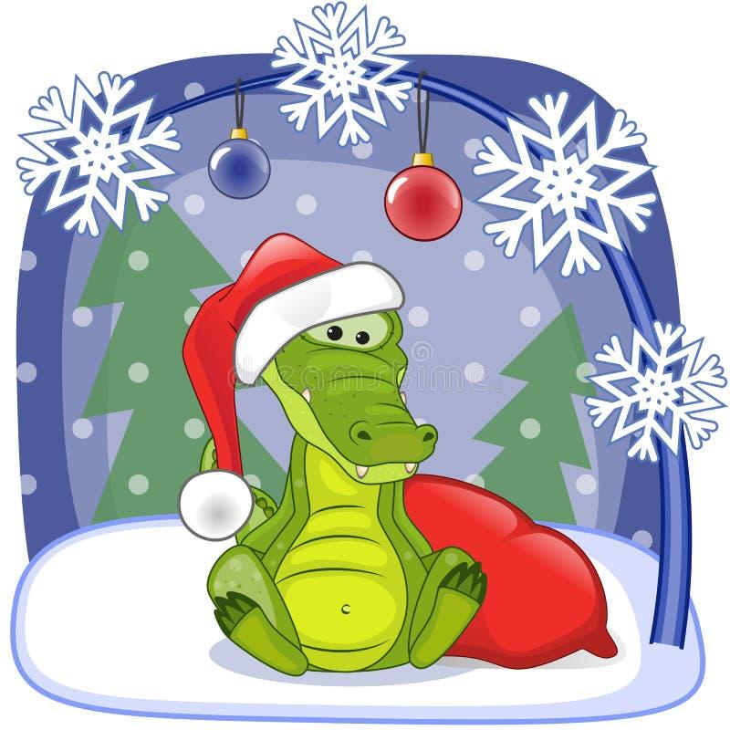 Santa Crocodile illustration libre de droits