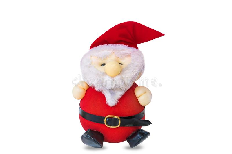 Santa Cross doll on a white background.  royalty free stock photography