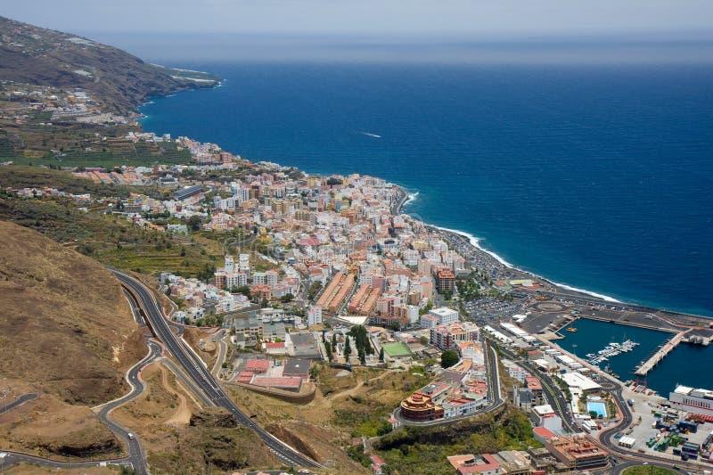 Santa Cruz. View at Santa Cruz, capital city of La Palma, Canary Islands stock photo
