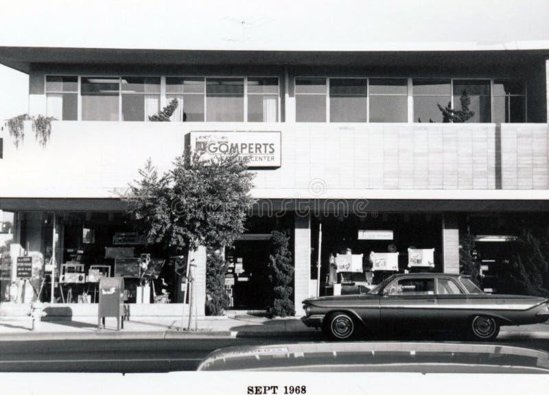 Santa Cruz Avenue - lado sur, frente imágenes de archivo libres de regalías