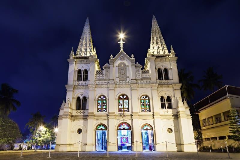 Santa Cruz Basilica. In Cochin, Kerala, India royalty free stock image